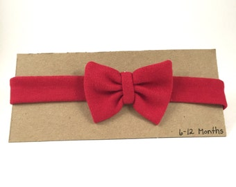 Red Christmas Baby Bow // Child's Headband with Bow