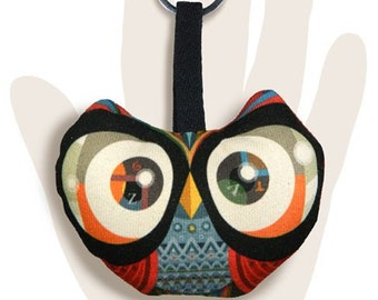 Owl with glasses Keychain
