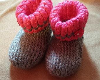 Crochet 12-18 mo. booties