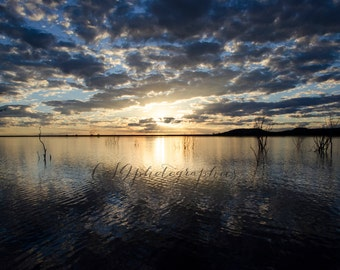 Sunset - bloue sunset - Fine Art Photographic print - Sunset Reflections