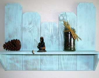 Picket fence single shelf
