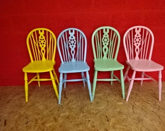 Vintage wheelbacked chair's