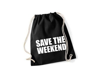 Save the weekend - gym bags in 9 colors