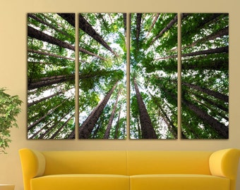 Forest canvas Forest wall decor Forest print Forest wall art Wood canvas Wood print Wood wall art Pine Wall Art Large Canvas Print Decor