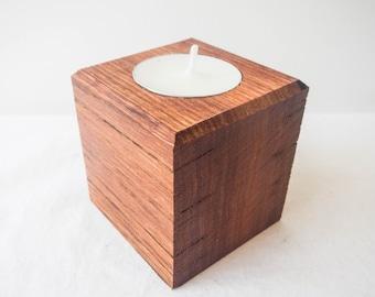 SPECIAL: set of 3 Jarrah hardwood tealight candle holders