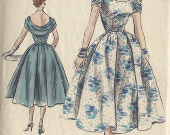 "1954 VOGUE Vintage Sewing Pattern B32"" DRESS (1310) Vogue  S-4509"