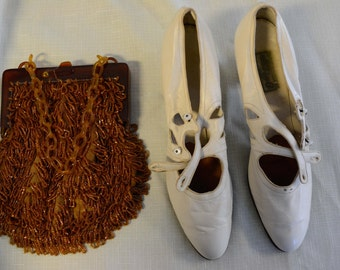 Cream Leather Heel
