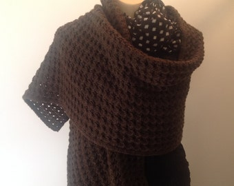 Long Corriedale wool wrap