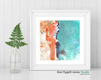 Art print of original abstract wall art, modern painting, ORANGE, modern abstract wall art, contemporary art, handmade abstract art, modern