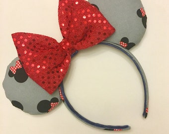 Gray Classic Minnie Mouse Ears