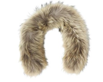 Child: Raccoon Fur Hood trim, fur trim   (natural color)