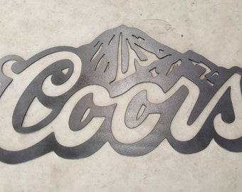 Coors Light Sign Etsy