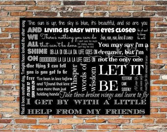 Beatles Lyrics Printable