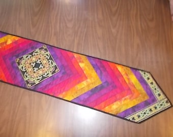 Kaleidoscope Quilted Table Runner