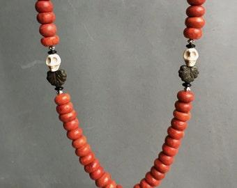 Vajra Dorje Apple Coral Necklace