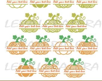 60 % OFF, Pumpkin Split Monogram SVG, Halloween Pumpkin SVG File,  Pumpkin Pattern svg, png, eps, dxf, Split Pumpkin svg,