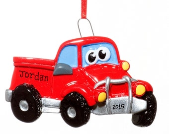 Personalized Ornament-Toy Red Truck-Free Gift Bag Included!