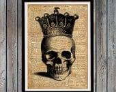 Anatomy art Skull poster Gothic art print Macabre art SH65