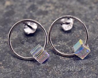 Silver earrings women's earrings jewelry earrings 925 gift SOR139