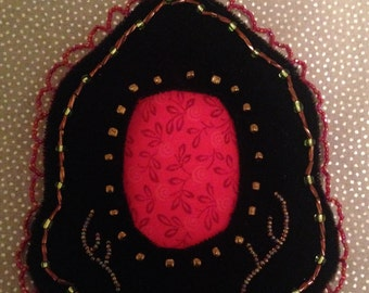 Beaded Photo Frame-Antlers