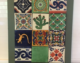 Mexican Tile Wall Art Handmade