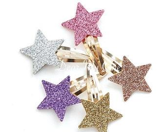 Star, Star Hair Clip, Star Hair Pin, Glitter Star Hair Pin, Girls Hair Clip, Kids Accessories, Baby Hair Clip, Star Hair Accessories