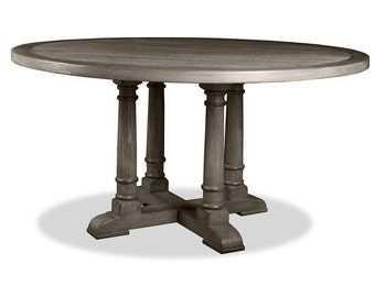 South Cone Home  Valentina Reclaimed Wood Round Dining Table