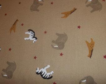 Country Noah Nursery animal print fabric