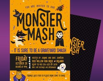 Monster Mash Halloween Party Invite