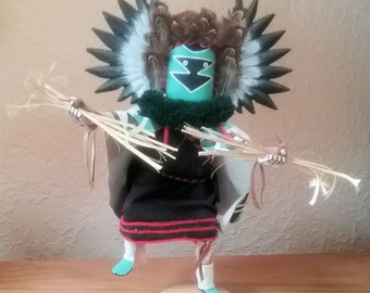 Native American Crow Mother Kachina Handcrafted and Signed