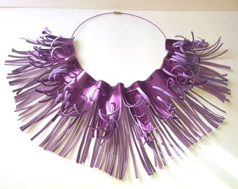 Synthetic leather necklace
