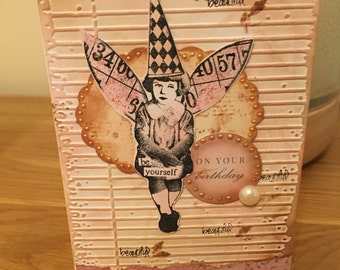 Vintage Style Handmade Birthday Card Be Yourself