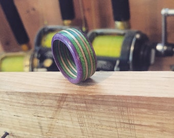 Ring made from recycled Creature skateboard