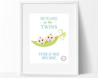 Beware of the Twins (Boys) Wall Print_0050WP