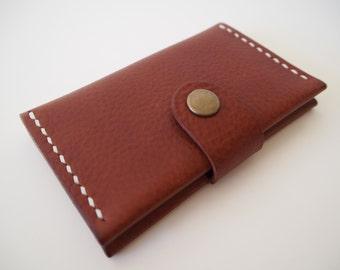 SALE 50% OFF --- Leather Card Holder, Leather Business Card Holder, Minimal Wallet - Tan