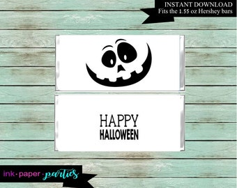 Printable Halloween Ghost Candy Wrappers Party Favors Favor Labels Digital File Instant Download