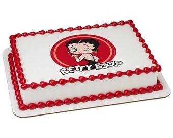 Betty Boop Kiss & Wink Edible Cake Topper