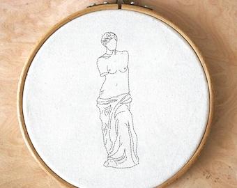 PDF embroidery Pattern - Venus de Milo - modern hand digital download