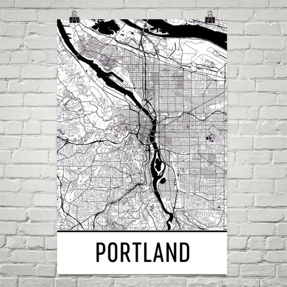 Portland Map Portland Art Portland Or Portland Oregon