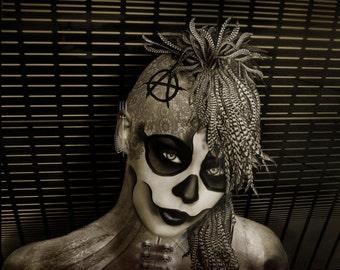 Fine Art Giclee print , canvas print,gothic,dark art,goth,vampier,occult, skull 2