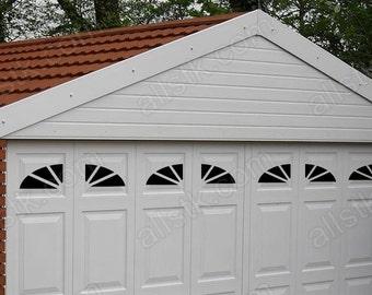garage door windows kitsGarage Door Windows Decals Garage Faux Window Decals
