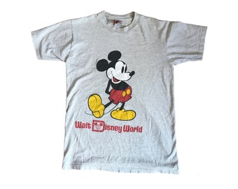 Vintage Mickey Mouse Walt Disney Shirt (S) (1980)