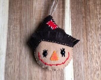 Felt Scarecrow Ornament