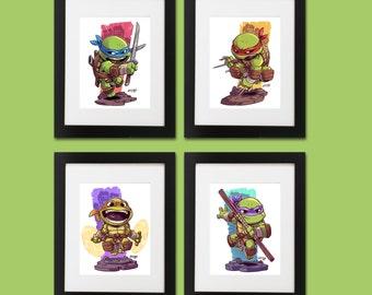 Teenage Mutant Ninja Turtles Wall Art - Set of 4 Prints
