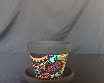 Mini Ceramic  Flower Pot and Planter Dish