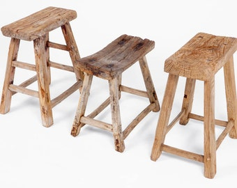Chinese Old antique wooden Stools - unique pieces, imported from China