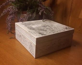 Handmade Wooden Box Magic Winter Best Gift