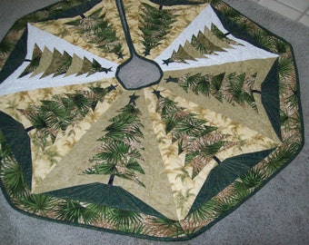 Christmas Tree Skirt #55 Quilted
