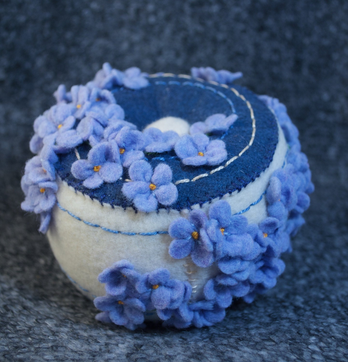 Made to order blue flowers pincushion free usa ship from for How are blue roses made