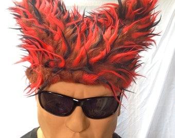 """COHZEE Hats """"CatHat"""" shape HALLOWEEN Hair Hat 3 different Faux Furs BurningMan style funfur Playawear costume wig cosplay Size LARGE"""